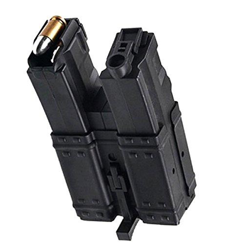 Airsoft Shopping Mall  1 Airsoft Shooting Gear CYMA 3pcs 250rd Short Mag Hi-Cap Dual Magazine for MP5 Series AEG Black