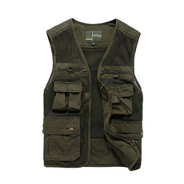 DAFREW Airsoft Tactical Vest 1 DAFREW Multi-Pocket Vests Vests Men's Casual Fishing Photography Vests mesh Breathable Vest (Color : Army Green, Size : L)