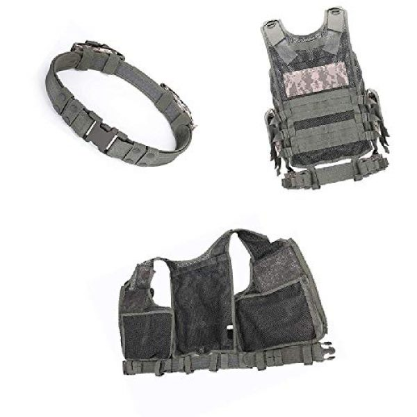 BGJ Airsoft Tactical Vest 5 Outdoor Multi-Pocket Swat Army CS Hunting Vest for Hunting Tactical Body Armor Games Paintball Airsoft Vest Military Equipment