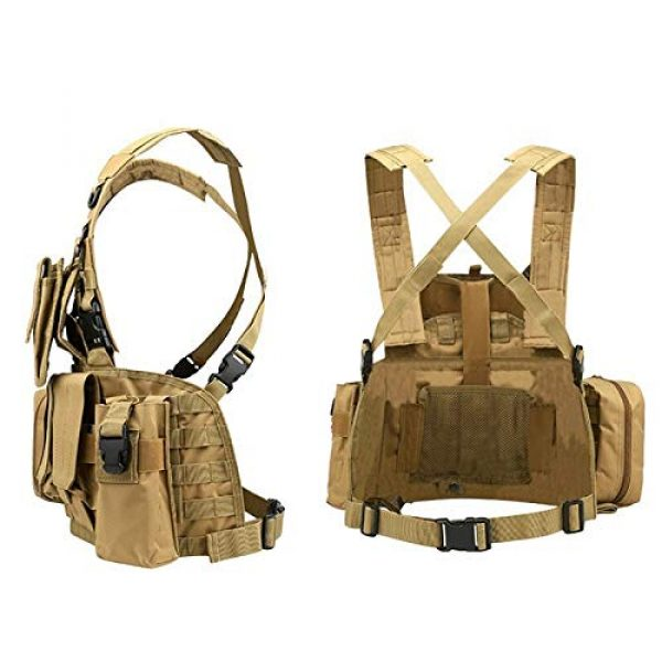 BGJ Airsoft Tactical Vest 6 CP Camo Vest RRV Molle Airsoft Tactical Vest Military Combat Assault Chest Rig Paintball Police Body Armor Hunting Vest