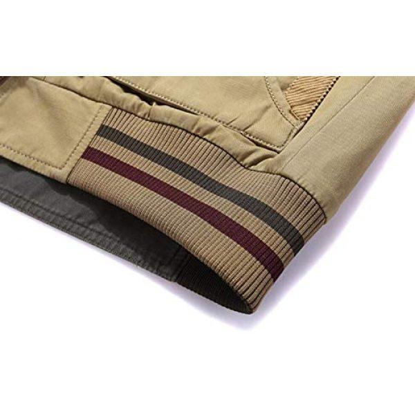 DAFREW Airsoft Tactical Vest 7 DAFREW Men's Reversible Cotton Casual Gilet Vest Outdoor Multi Pockets Full Zip Vests (Color : Black, Size : L)