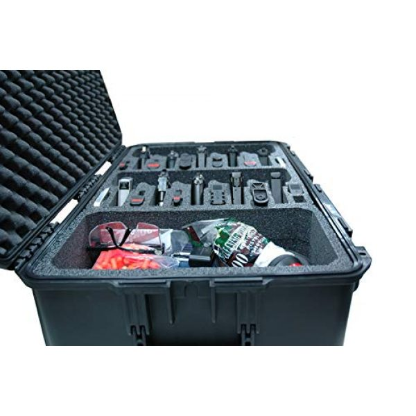 Case Club Pistol Case 6 Case Club 10 Pistol & Accessory Pre-Cut Waterproof Case with Silica Gel to Help Prevent Gun Rust