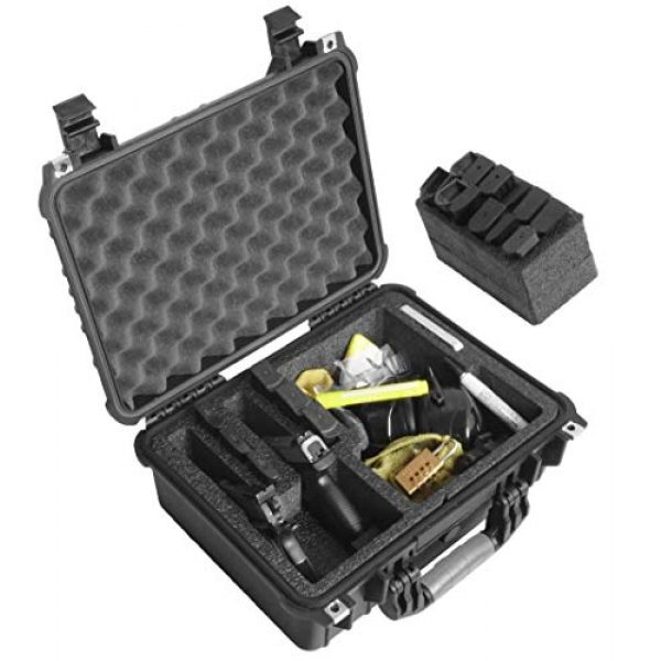 Case Club Pistol Case 4 Case Club Waterproof 2 Pistol Case & Accessory Pocket with Silica Gel
