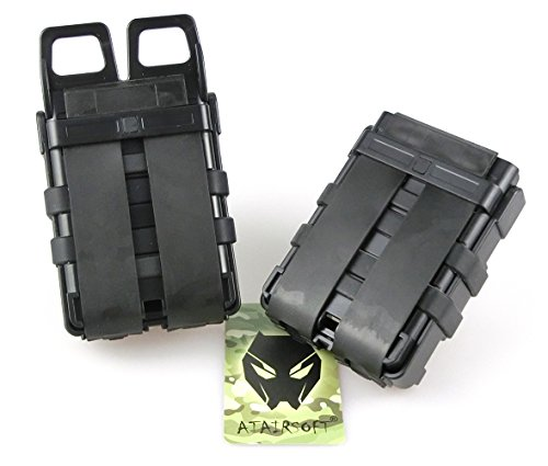 ATAIRSOFT  4 ATAIRSOFT Tactical FastMag Molle Pouch Double 5.56 Magazine Holster Bag for AR M4 M16
