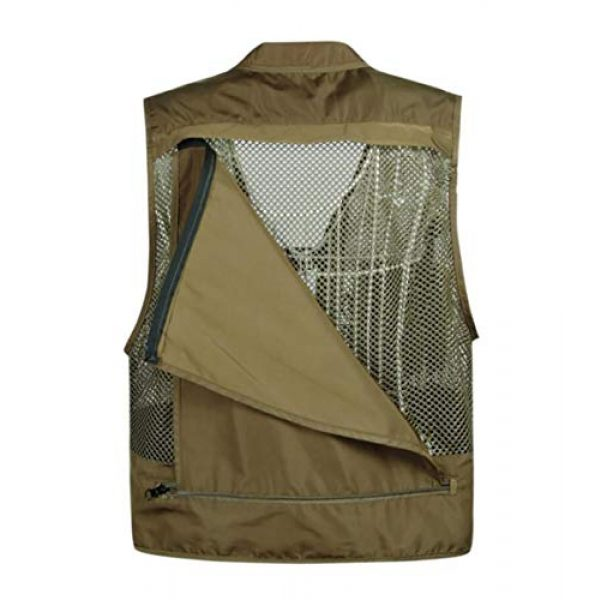 DAFREW Airsoft Tactical Vest 5 DAFREW Men Outdoor Sport Multi-Pocket Mesh Vest Fly Fishing Photography Shooting Travel Quick-Dry Jacket Waistcoat (Color : Shallow Army Green, Size : M)