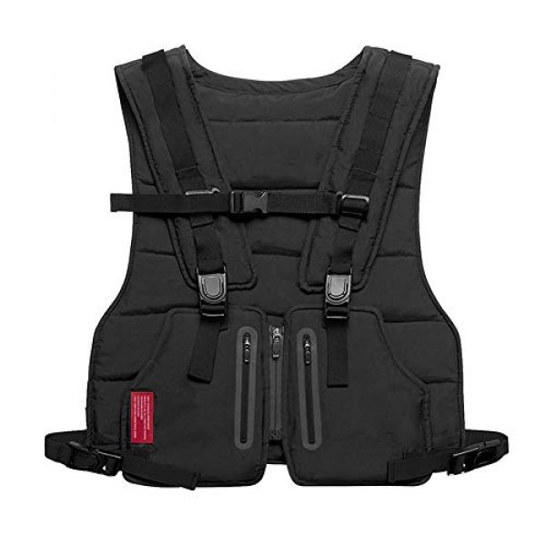 Armiya Airsoft Tactical Vest 1 Mens Molle Tactical Military Chest Rig Law Enforcement Work Reflective Vest Combat Condor Security Training Tool Pouch for Outdoor Paintball CS Game Airsoft Climbing Hiking (Black)