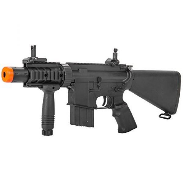 MetalTac Airsoft Rifle 1 MetalTac Electric Airsoft Gun M4 CQB 02 A&K with Full Metal Body, Metal Gearbox Version 2, Full Auto AEG, Upgraded Powerful Spring 380 Fps with .20g BBS