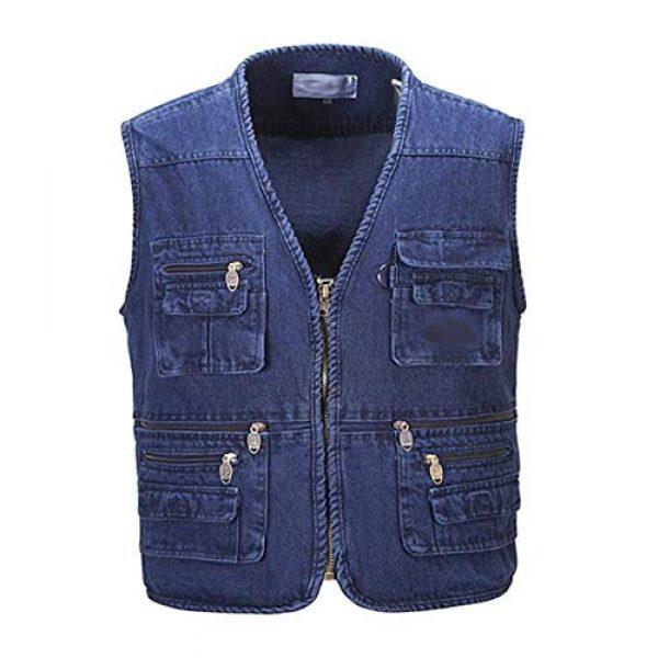 DAFREW Airsoft Tactical Vest 1 Denim Sleeveless Shirt Men's Casual Vest Fashion Photography Vest Fishing Vest (Color : Denim Color, Size : XL)