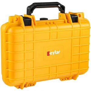 Eylar Pistol Case 1 Eylar Tactical Hard Gun Case Water & Shock Proof with Foam TSA Approved 11.6 Inch 8.3 Inch 3.8 Inch (Yellow)
