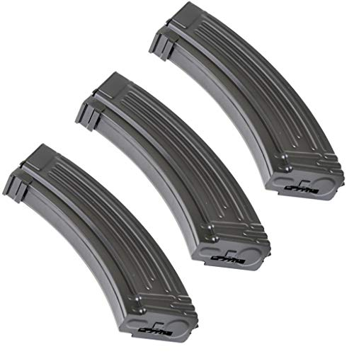 Generica  1 Airsoft Spare Parts 3pcs Pack CYMA 600rd Hi-Cap Magazine for AK-Series AEG Black