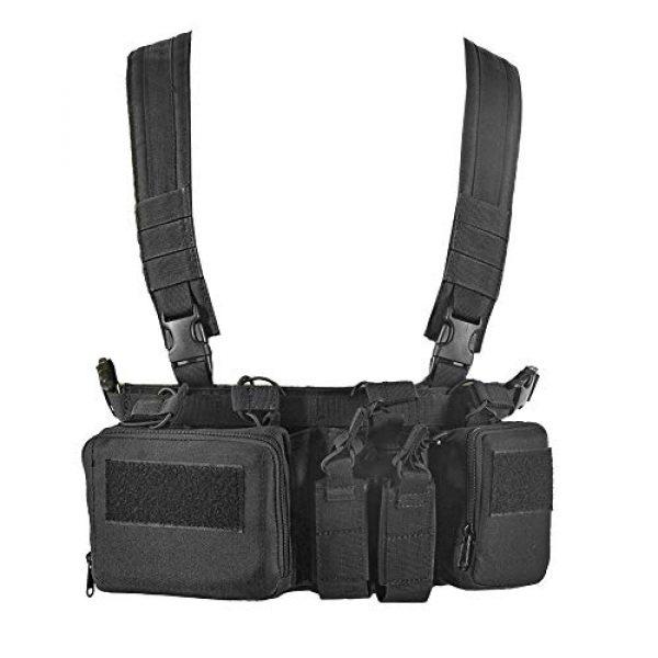 BGJ Airsoft Tactical Vest 7 BGJ CS Match Wargame TCM Chest Rig Airsoft Tactical Vest Military Pack Magazine Pouch Holster Molle System Waist Men Nylon