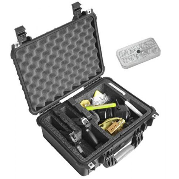 Case Club Pistol Case 2 Case Club Waterproof 2 Pistol Case & Accessory Pocket with Silica Gel