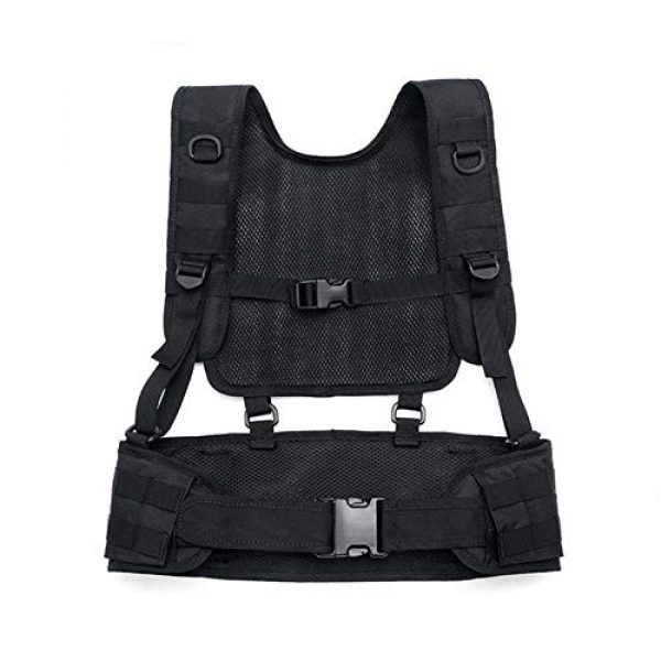 Shefure Airsoft Tactical Vest 7 Shefure Tactical H-Harness Waist Battle Belt Suspenders Hunting Molle Vest Chest Rig