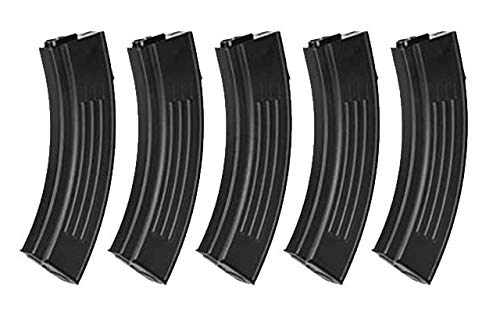 King Arms  1 King Arms 100rds AK Style Magazine for Tokyo Marui M4/16 Series (5pcs Box Set) (for Airsoft Toys Only)