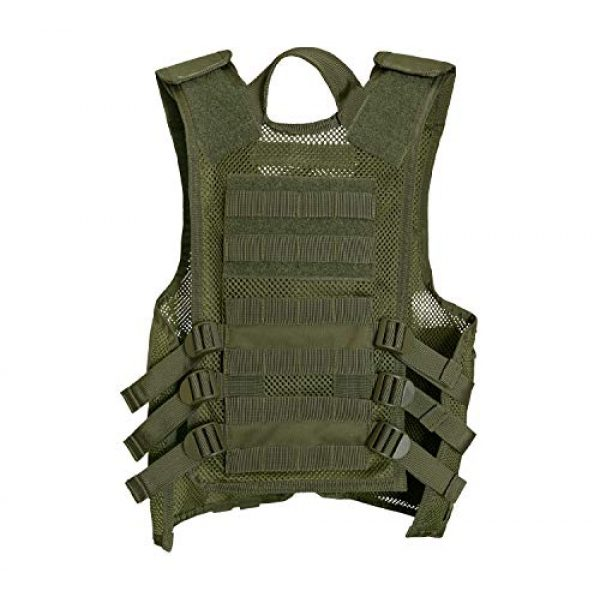 Rothco Airsoft Tactical Vest 2 Rothco Kid's Tactical Cross Draw Vest, Olive Drab