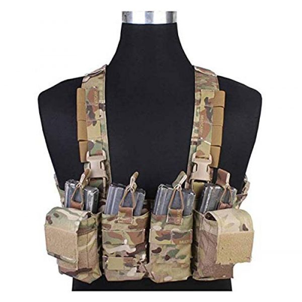 Elite Tribe Airsoft Tactical Vest 1 Tactical Vest Easy Chest Rig Military Carrier Vest Multicam