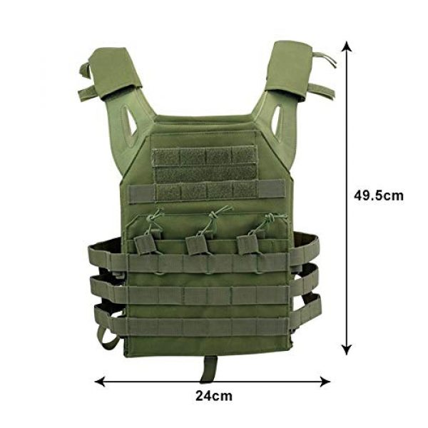 BGJ Airsoft Tactical Vest 7 BGJ Tactical JPC Vest Molle Plate Carrier Military Vest Airsoft Paintball CS Game Hunting Outdoor Protective Equipment