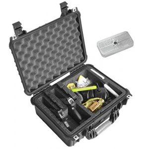 Case Club Pistol Case 1 Case Club Waterproof 2 Pistol Case & Accessory Pocket with Silica Gel