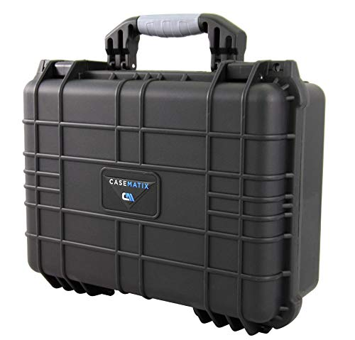 "CASEMATIX Pistol Case 2 CASEMATIX 16"" Customizable 4 Pistol Multiple Pistol Case - Waterproof & Shockproof Hard Gun Cases for Pistols, Magazines and Accessories - Multi Gun Case for Pistols with Two Layers of 2"" Thick Foam"