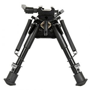 Gazelle Trading Airsoft Gun Barrel Bipod 1 Gazelle Trading 8-11 Inches Tactical Rifle Bipod with Pivot Lock for Shooting Quick Release Monopods