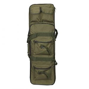 Yamcyh  1 Yamcyh Tactical Rifle Case Rifle Shotgun Soft Case Outdoor Military Rifle Hunting Backpack Airsoft Nylon Square Carry Dual Rifle Bag Gun Protection Case (Green