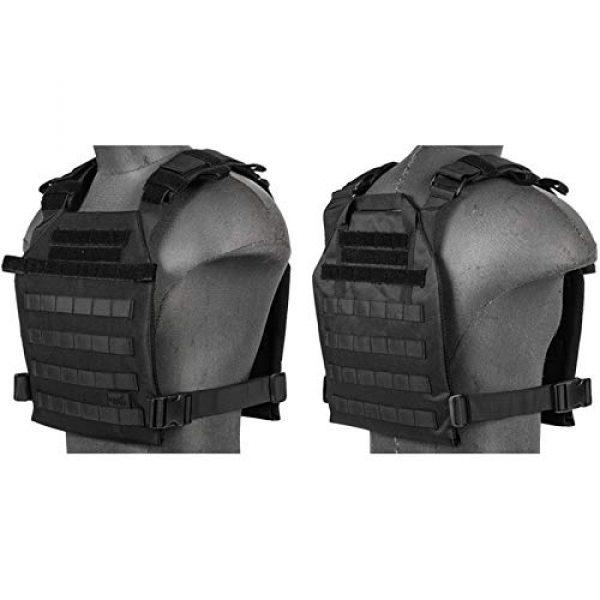 Lancer Tactical Airsoft Tactical Vest 1 Lancer Tactical Polyester Airsoft QR Lightweight Tactical Vest Nylon Black Adjustable Combat Training