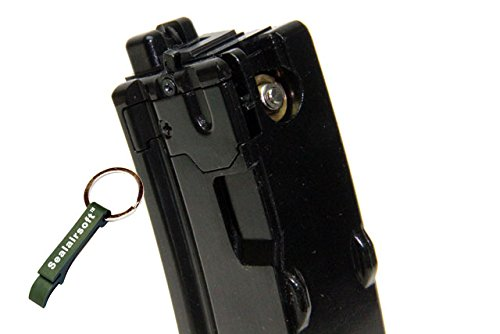 WE  2 WE 26rds Gas Airsoft Gas Magazine For APACHE MP5 MP5K MP5A2 GBB SMG BLK -Mobile Ring Included