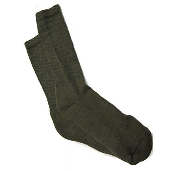 USOA Combat Boot Sock 2 Men's Anti-Microbial Military Boot Socks Olive DRAB - 3 Pair