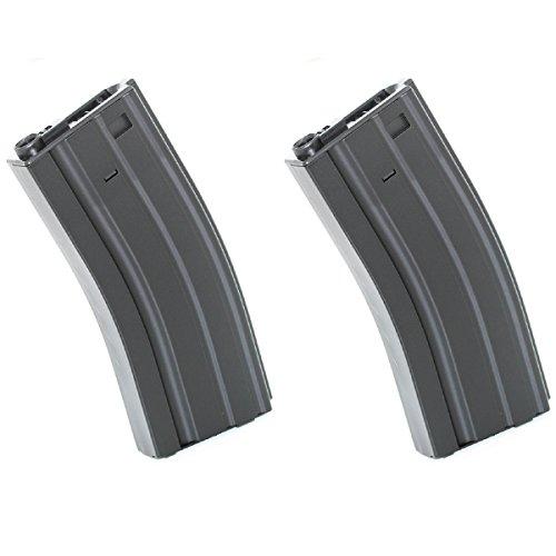Airsoft Shopping Mall  1 Airsoft Shooting Gear E&C 2pcs 300rd Hi-Cap Mag Magazine For M-Series AEG Black