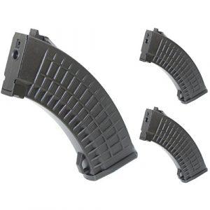 Airsoft Shopping Mall Airsoft Gun Magazine 1 Airsoft Shooting Gear 3pcs Pack CYMA 150rd Mid-Cap Waffle Magazine for AK-Series AEG Black
