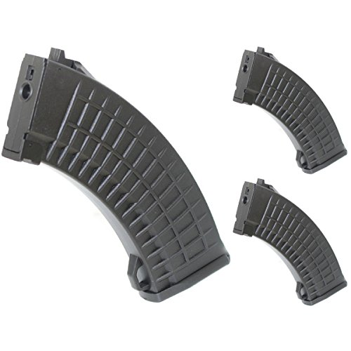 Airsoft Shopping Mall  1 Airsoft Shooting Gear 3pcs Pack CYMA 150rd Mid-Cap Waffle Magazine for AK-Series AEG Black