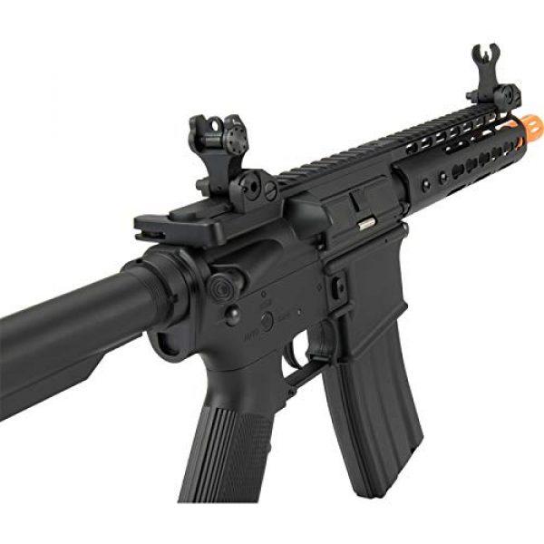 "Lancer Tactical Airsoft Rifle 3 Lancer Tactical Golden Eagle F6637 Elite Series 7"" KeyMod CQB AEG Airsoft Rifle Black"