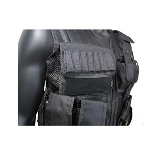 Yoghourds Airsoft Tactical Vest 6 Yoghourds Adjustable Breathable Vest, Ultra-Light Tactical Vest for Men for Hunting/Fishing/CS Field Operations/Cosplay