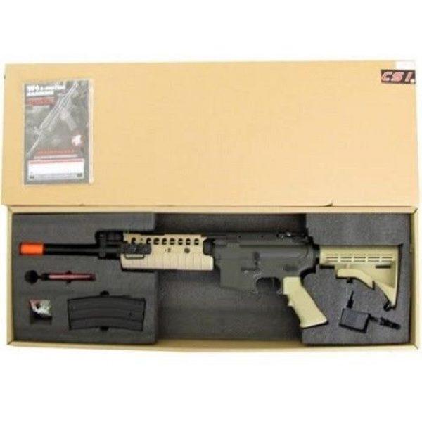 Jing Gong (JG) Airsoft Rifle 5 jing gong w4 metal gb aeg airsoft gun, extra mag, google's, 4350 bb's combo -tan(Airsoft Gun)