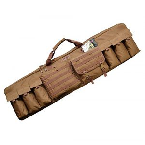 Explorer Cases Rifle Case 1 Explorer 3 Rifles Case Padded Long Tactical Carrying Military Backpack Bag with YKK Zippers with Storage MOLLE Pouches