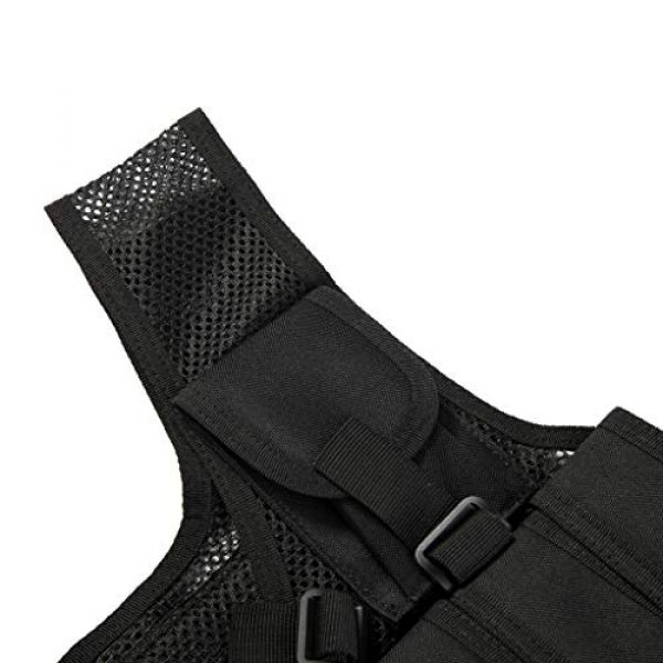 Jipemtra Airsoft Tactical Vest 7 Jipemtra Tactical MOLLE Airsoft Vest Adjustable Paintball Combat Training Vest Detachable for Hunting Mountaineering Outdoors (Black)