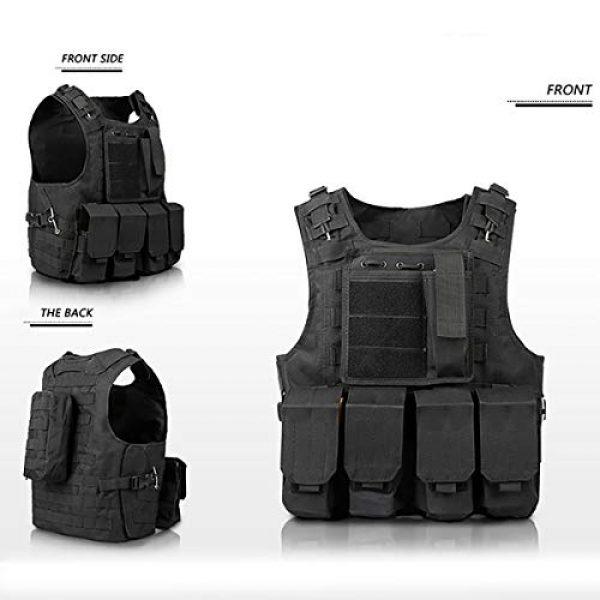 mimeng Airsoft Tactical Vest 2 mimeng Tactical Protective Vest CS Outdoor Training Equipment Fishing Hunting Strength Training Safety Protective Vest