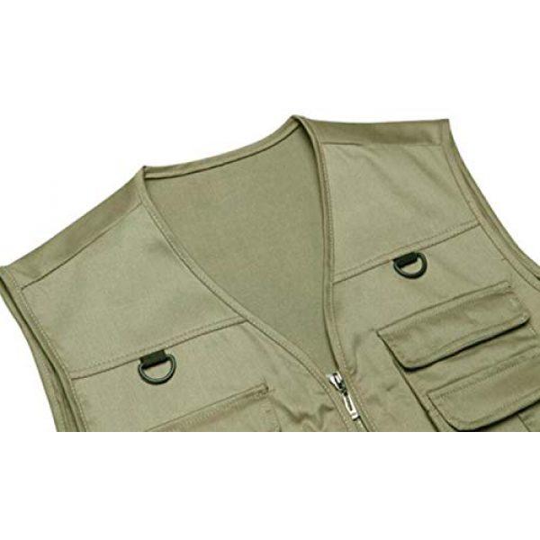 DAFREW Airsoft Tactical Vest 4 DAFREW Men's Vest Camera Vest Outdoor Leisure Fishing Vest Multi-Pocket Vest (Color : Red, Size : M)