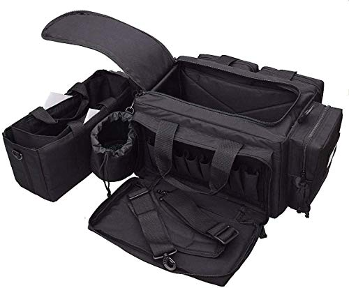 "3S Tactical Pistol Case 5 Range Bag Gun Ammo Bag Large Tactical Pistol Duffle Handgun Carrying Case Shooting Bag 24""x17""x10"""