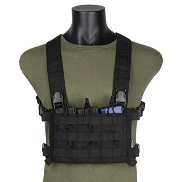 OneTigris Airsoft Tactical Vest 1 OneTigris Tactical Panel Placard Adapter & Tactical Placard 03 (Black)
