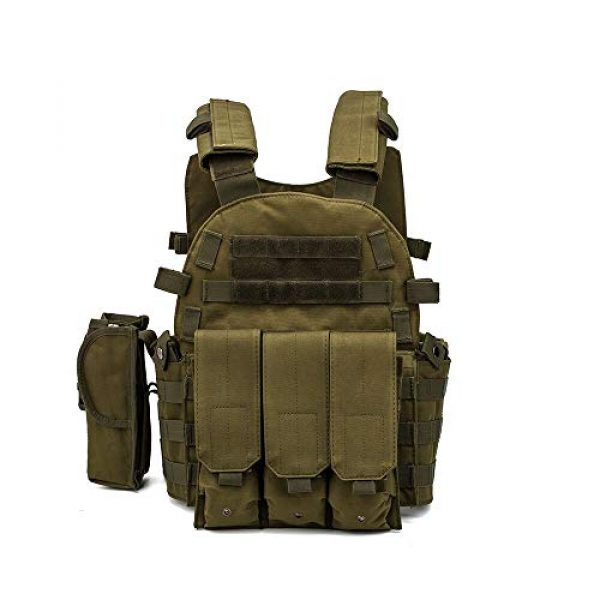 BGJ Airsoft Tactical Vest 4 Men 6094 Multicam Camo Tactical Vest Molle Modular Body Ammo Airsoft Paintball Combat Military Hunting Vest Clothes Accessories