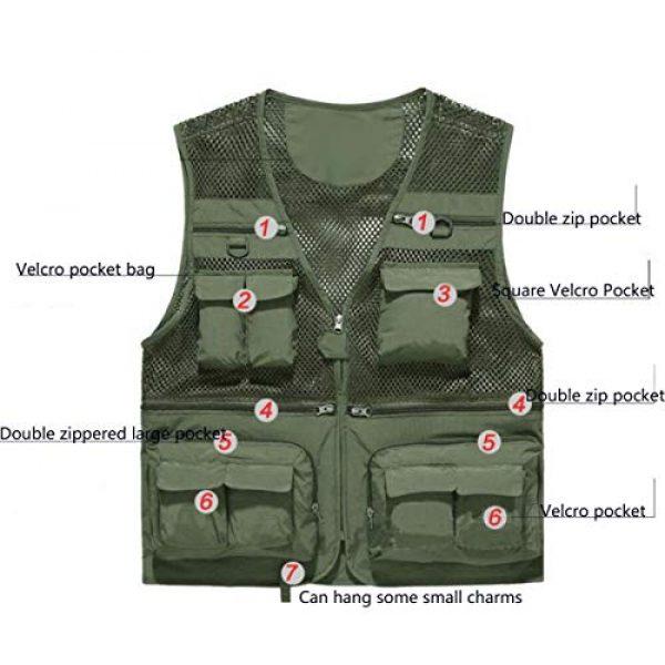 DAFREW Airsoft Tactical Vest 5 DAFREW Thin Vest Men's Outdoor Vests Casual Fishing Breathable Vests Summer Quick-Drying Vest (Color : Khaki, Size : L)