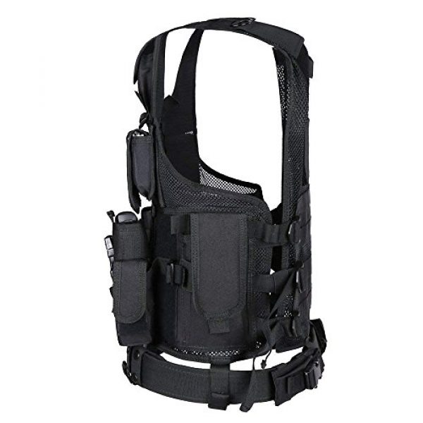TongBF Airsoft Tactical Vest 4 TongBF Tactical Outdoor Military CS Field Vest Ultra-Light Breathable Combat Training Adjustable Vest