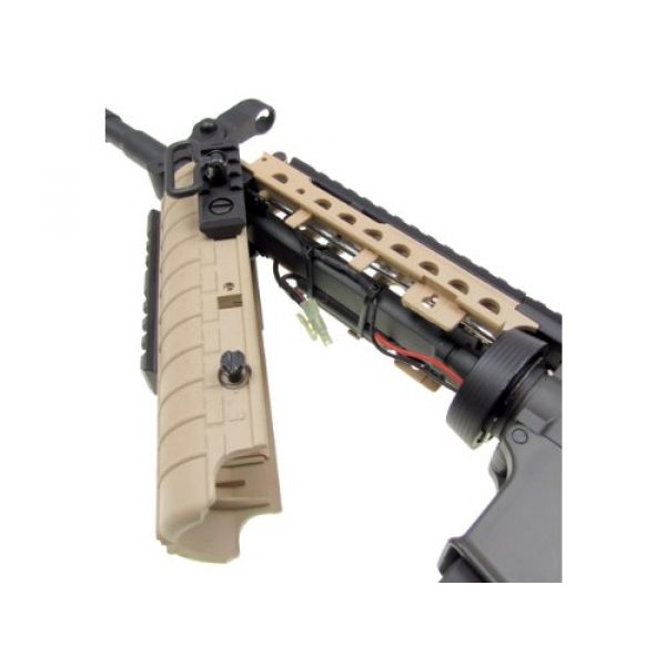 Jing Gong (JG) Airsoft Rifle 5 JG airsoft m4 s-system full metal gearbox desert tan aeg rifle w/ integrated ris and high performance tight bore barrel - newest enhanced model(Airsoft Gun)