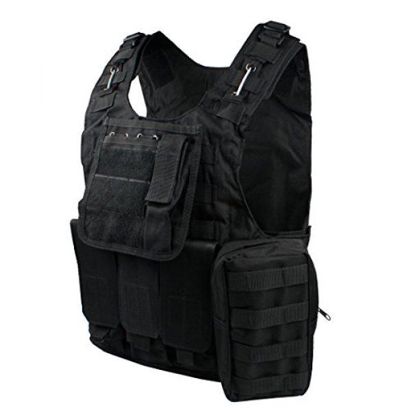 Andux Airsoft Tactical Vest 5 Andux Land Airsoft Assault Vest Paintball Combat Vest Tan Adult ZSBS-01