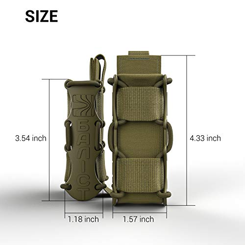 ATAIRSOFT  2 ATAIRSOFT KOLCHAN Fast MAG Tactical Top Open Single 9mm and 7.62mm Pistol Magazine Holder Very Durable of 1000 D Cordura fastmag Holster and MOLLE Compatible Airsoft Hunting Shooting