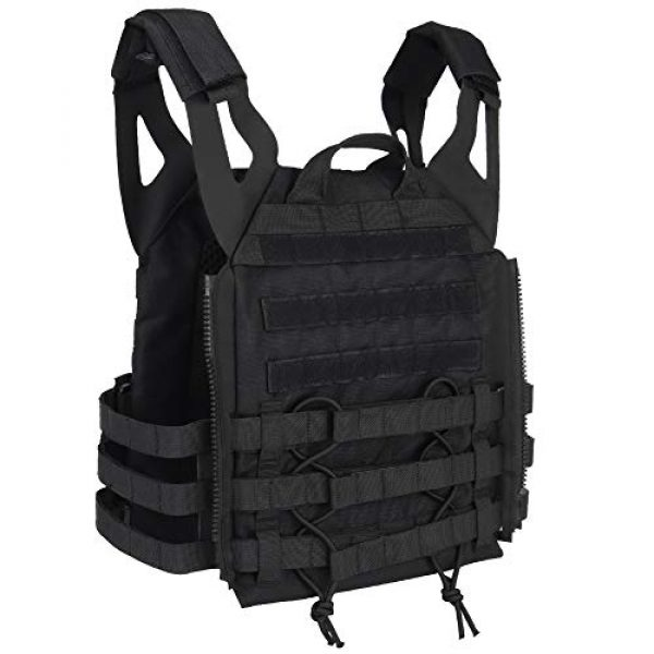DETECH Airsoft Tactical Vest 3 DETECH Molle Adaptive Vest JPC Tactical Hunting Airsoft Vest Multicam Black