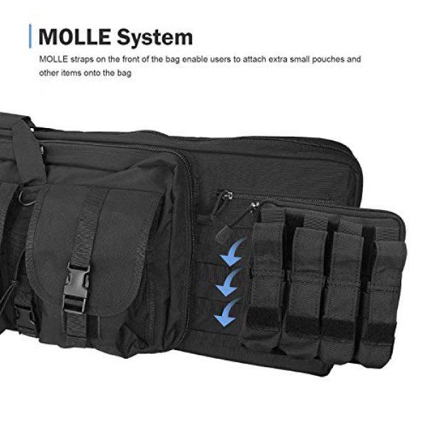 ProCase Rifle Case 7 ProCase Double Rifle Bag, Tactical Long Rifle Pistol Gun Firearm Transportation Carbine Case w/Backpack, MOLLE, Lockable Compartments