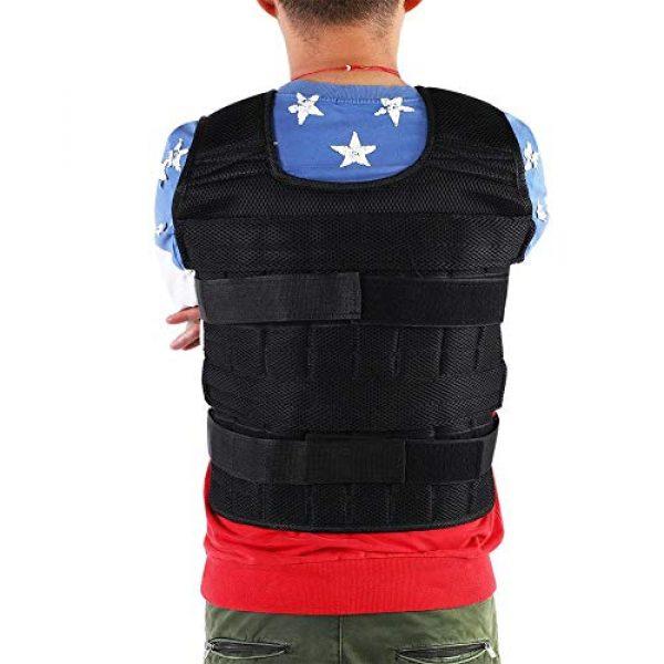Aiggend Airsoft Tactical Vest 4 Tactical Vests, 50KG Weighted Vest Strength Training Jacket for Workout Fitness