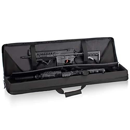 HUNTSEN  3 HUNTSEN Tactical Double Long Rifle Pistol Gun Bag Firearm Transportation Case Double Rifle Bag Outdoor Tactical Carbine Cases Water Dust Resistant Long Gun Case Bag